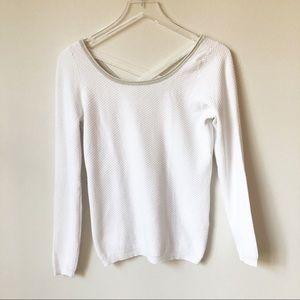 NAF NAF White Diamond Print Lightweight Sweater
